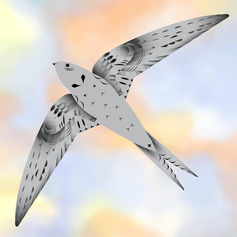 A swift flying in the sky