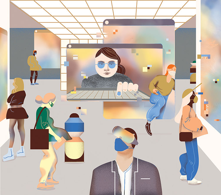 Illustration for the Berliner Zeitung about Gallery Weekend