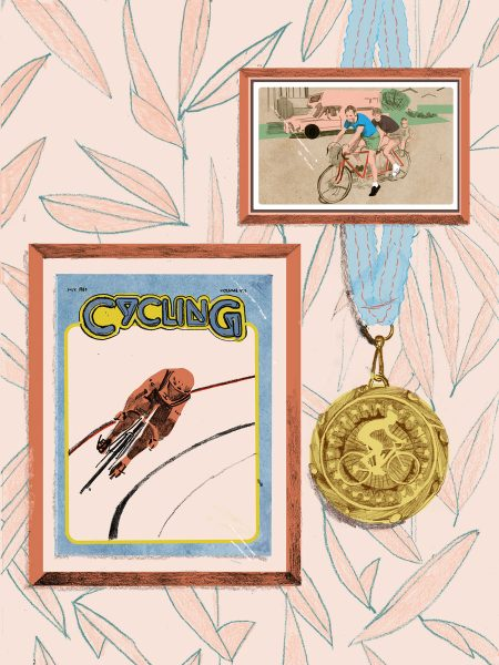 frames and medal on wall illustration